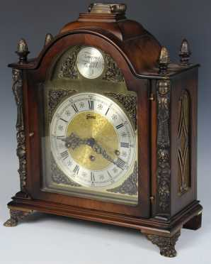Modern Chippendale Style Mantle Clock
