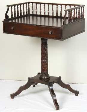 English Mahogany Empire Style Stand