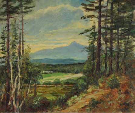 William H. Partridge oil on board of a White Mountain scene