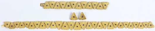 Mario Buccellati 18 K Yellow Gold Ensemble
