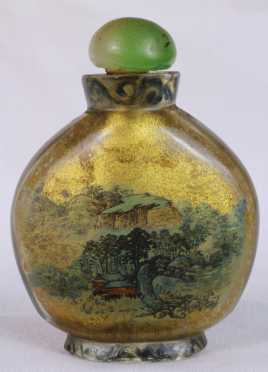 Chinese Reverse Painted Glass Snuff