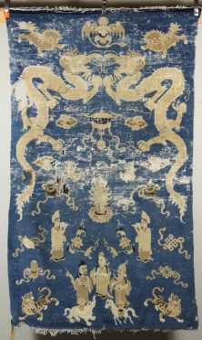 Antique Chinese Oriental Scatter Rug