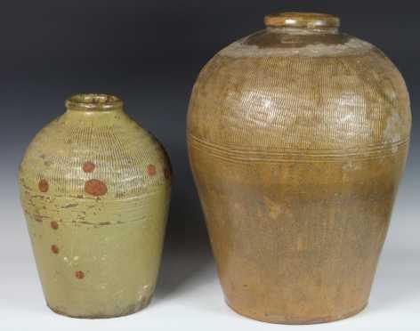 Two Korean Stoneware Jars