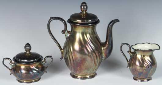 "Bavarian ""Keram Silber"" Tea Set"
