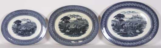Nest of Three English Porcelain Platters