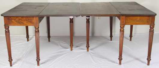 Mahogany Empire Banquet Table