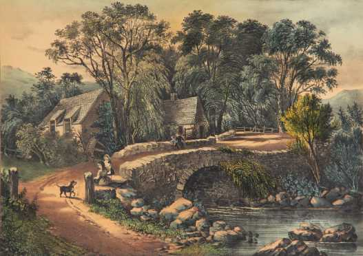 """Currier & Ives, """"The Millers Home"""""""
