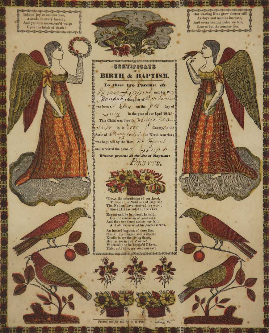 Of birth and baptism 19th century pa certificate of birth and baptism 19th century pa aiddatafo Image collections
