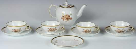 Royal Copenhagen Teapot and Cups