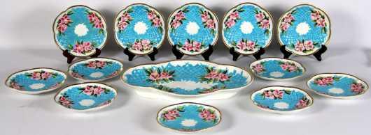 French Porcelain Dessert Set