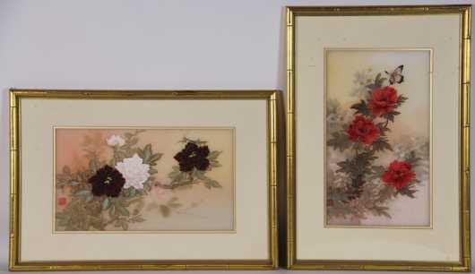 Pair of Chinese Watercolors