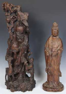 Carved Asian Wooden Figures