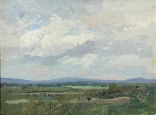 Barry Faulkner, Attributed, oil on artist board paintings of Monadnock landscape