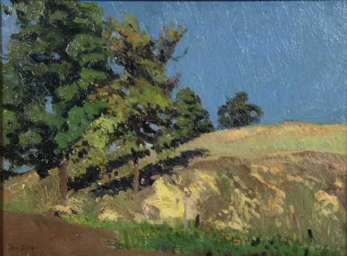 Benjamin Foster oil on artist board