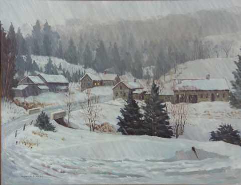 Raymond D. Rodd oil on artist board painting