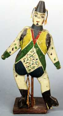 19th century painted Toy Jester