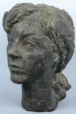 Janet Spaeth deMartelly, bronze casting of Sharon Wood