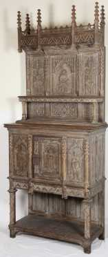 French Gothic Revival Cupboard