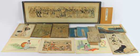 Lot of 14 Japanese Printed Items