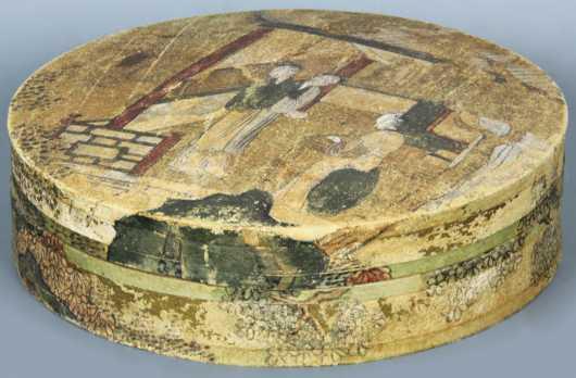 Chinese Decorated Pigskin Box