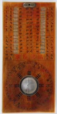 Portable Chinese Sundial & Compass