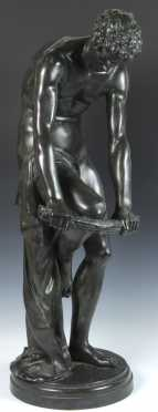 Louis Leopold bronze casting of a young man