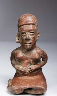 A Jalisco seated female figure, 300 AD