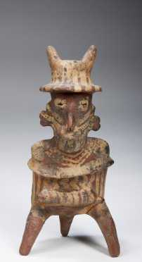 A nayarit seated warrior figure, 300 AD