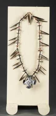 An Aztec obsidian necklace, 1300 - 1521 AD
