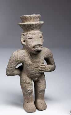 A fine Costa Rican stone figure; Atlantic Watershed, 1000 1500 AD