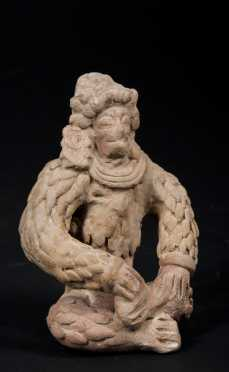 A Fine published and exhibited JamaCoaque figure, 300 BC - 500 AD