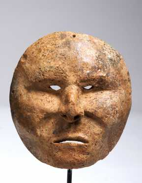 A powerful Calima burial mask, 200 BC - 400  AD