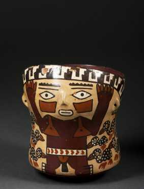 A Nazca painted vessel, 100 - 800 AD