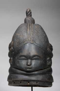 A fine Mende Bundu helmet mask