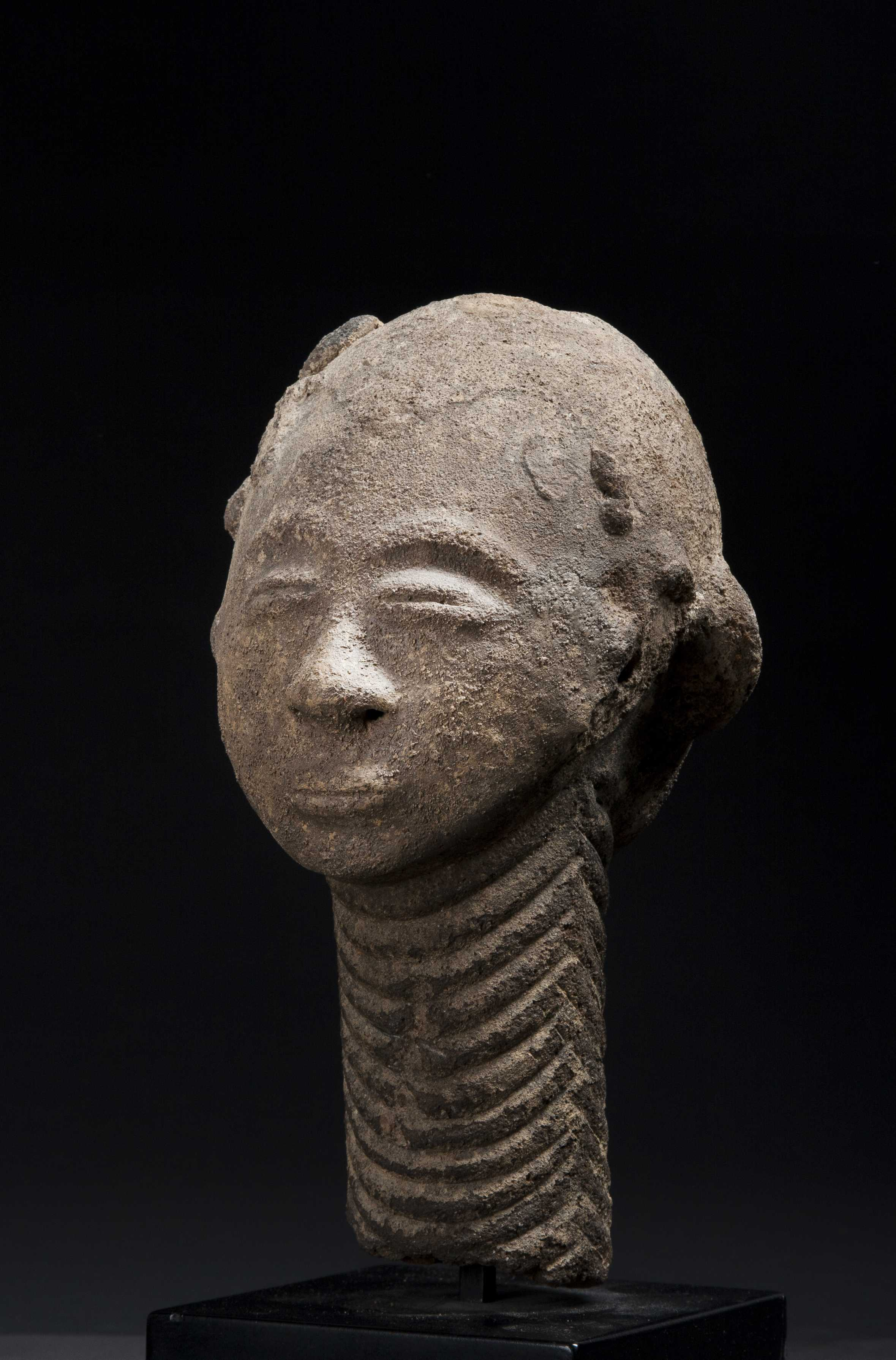 Janus Terracotta Funerary Head