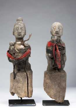 A pair of Bochio figures for Vodun