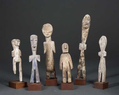 A group of six Adan figures