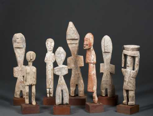 A group of eight Adan figures
