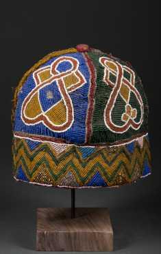 A Yoruba beaded hat