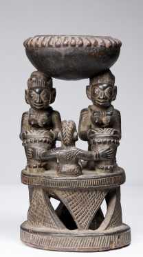 A fine Yoruba divination bowl