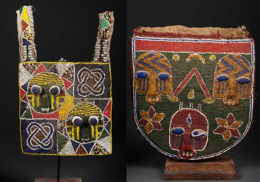 Two Yoruba beaded bags