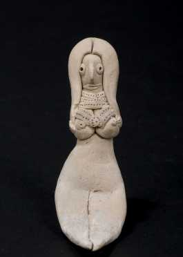 A central Mesopotamian goddess figurine