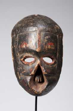 A fine and old Ibibio deformity mask