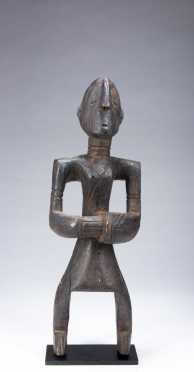 A fine and rare Bagirmi drummer figure