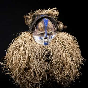 A Yaka initiation mask