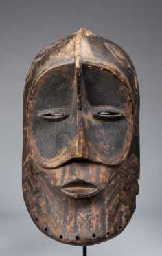 A rare Bena Lulua helmet mask