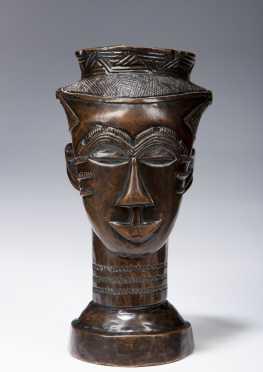 A fine Kuba portrait cup
