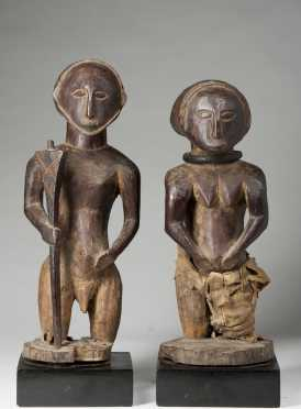 A Superb and rare pair of Hemba figures