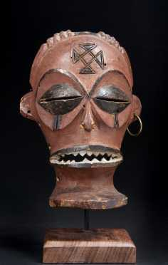 A fine Chokwe male face mask