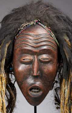 A superb Mbunda female mask